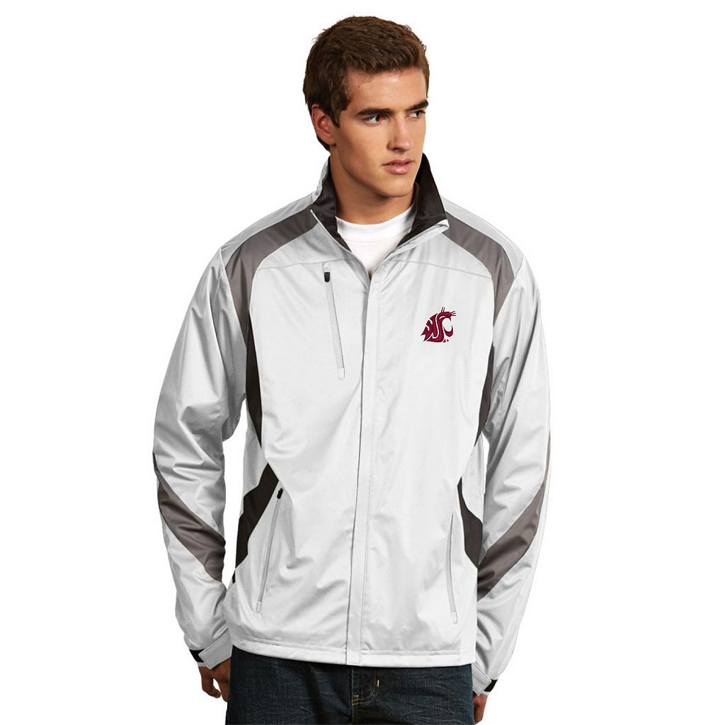 Men's Antigua Washington State Cougars Tempest Desert Dry Xtra-Lite Performance Jacket