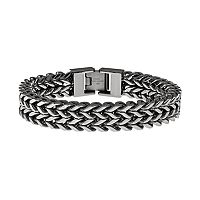 LYNX Stainless Steel Wheat Chain Bracelet - Men
