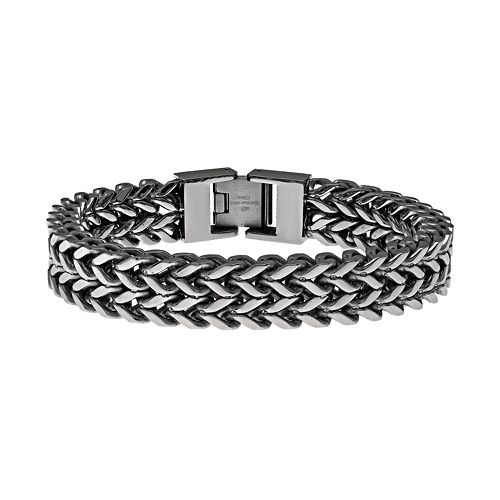 LYNX Stainless Steel Wheat Chain Bracelet - Men