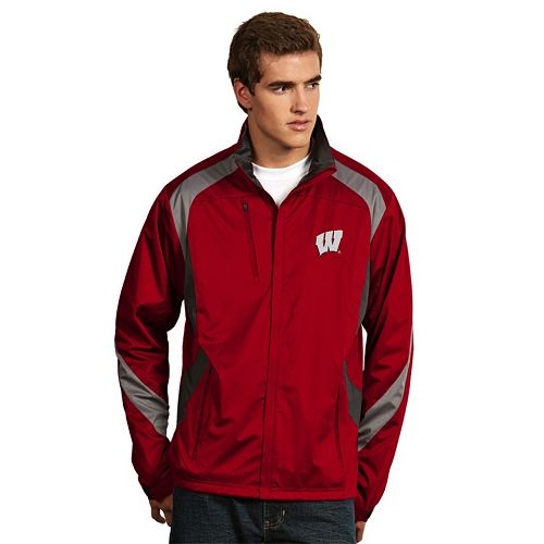 Men's Antigua Wisconsin Badgers Tempest Desert Dry Xtra-Lite Performance Jacket