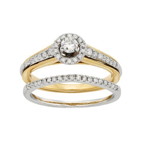 Diamond Halo Engagement Ring S...