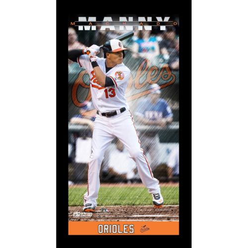 Steiner Sports Baltimore Orioles Manny Machado 10'' x 20'' Profile Wall Art