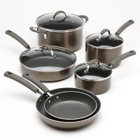 Food Network™ 10-pc. Metallic Enamel Nonstick Cookware Set