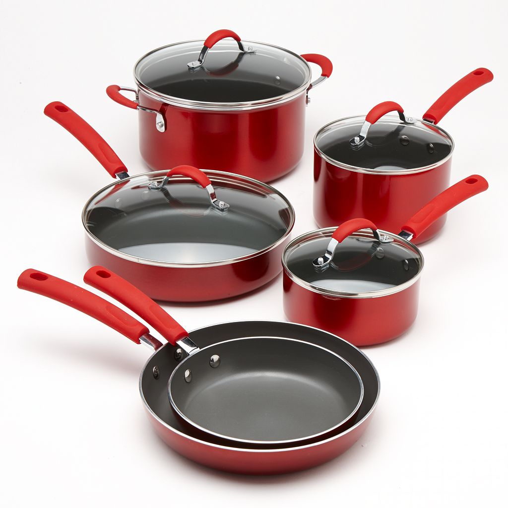 Food Network™ 10-pc. Metallic Nonstick Cookware Set