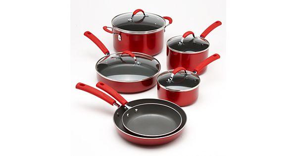 Food Network 10 Pc Metallic Nonstick Cookware Set