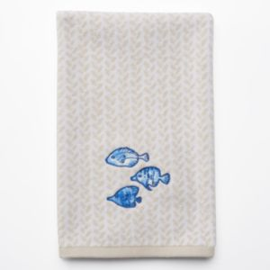 SONOMA Goods for Life™ Seabrook Blue Fish Hand Towel
