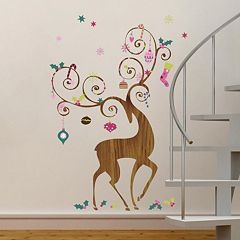 decor ornament reindeer christmas wall decals - Christmas Wall Decor