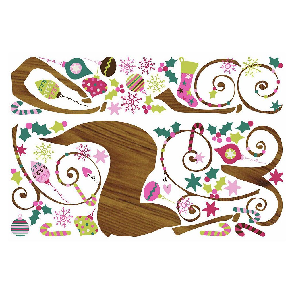 Ornament Reindeer Christmas Wall Decals