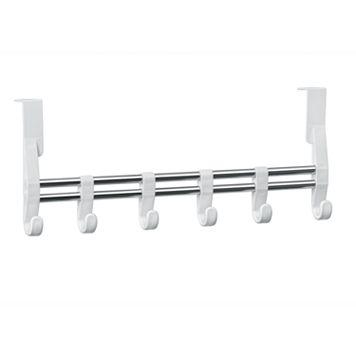 Lynk® Over-the-Door Adjustable 6-Hook Hanger