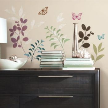 Botanical Butterfly Wall Decals