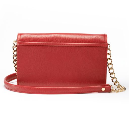 Buxton Chained Convertible Crossbody Wallet
