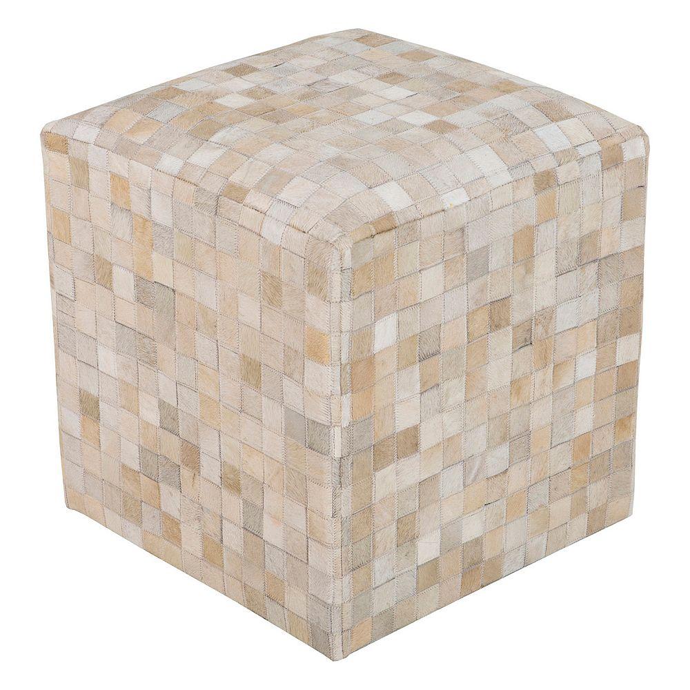 Artisan Weaver Checkered Pouf