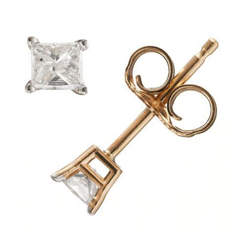 1/4 Carat T.W. Diamond 14k Gold Stud Earrings