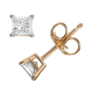 1/2 Carat T.W. Diamond 14k Gold Stud Earrings