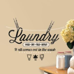 Laundry Wash Dry Wall Decals