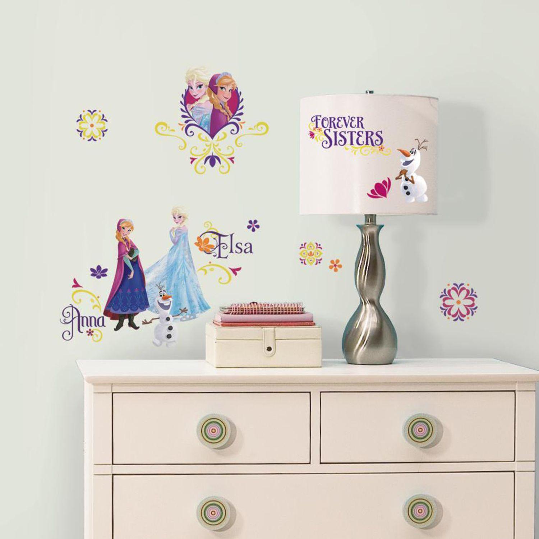 Disneyu0027s Frozen Spring Elsa U0026 Anna Wall Decals