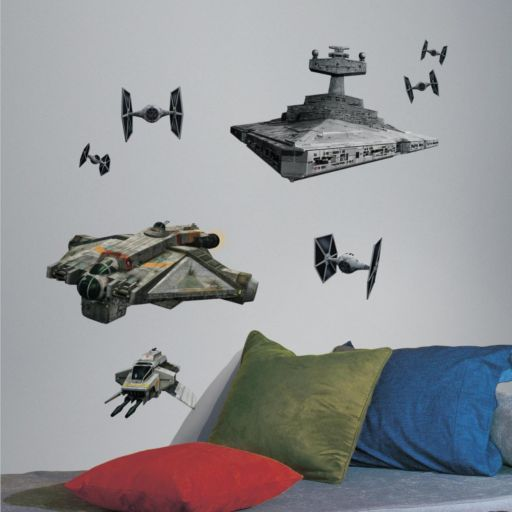 Star Wars Rebel and Imperial Ship Wall Decals