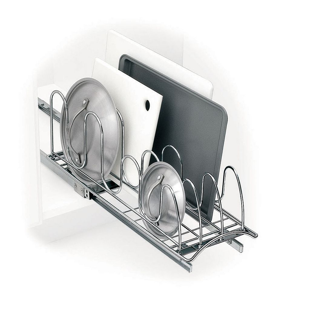 Lynk Professional Roll-Out Lid & Tray Cabinet Organizer