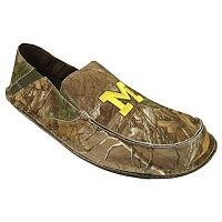 Men's Michigan Wolverines Cazulle Realtree Camouflage Canvas Loafers