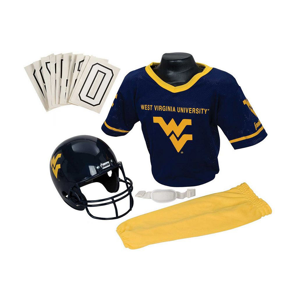 Franklin NCAA West Virginia University Mountaineers Deluxe Football Uniform Set