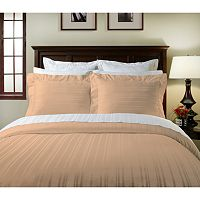 Pointehaven 510-Thread Count Striped Pima Cotton Sateen 2-pk. Euro Shams