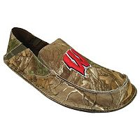 Men's Wisconsin Badgers Cazulle Realtree Camouflage Canvas Loafers
