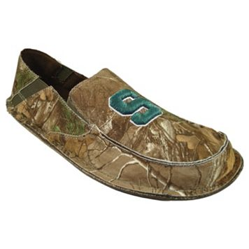 Men's Michigan State Spartans Cazulle Realtree Camouflage Canvas Loafers