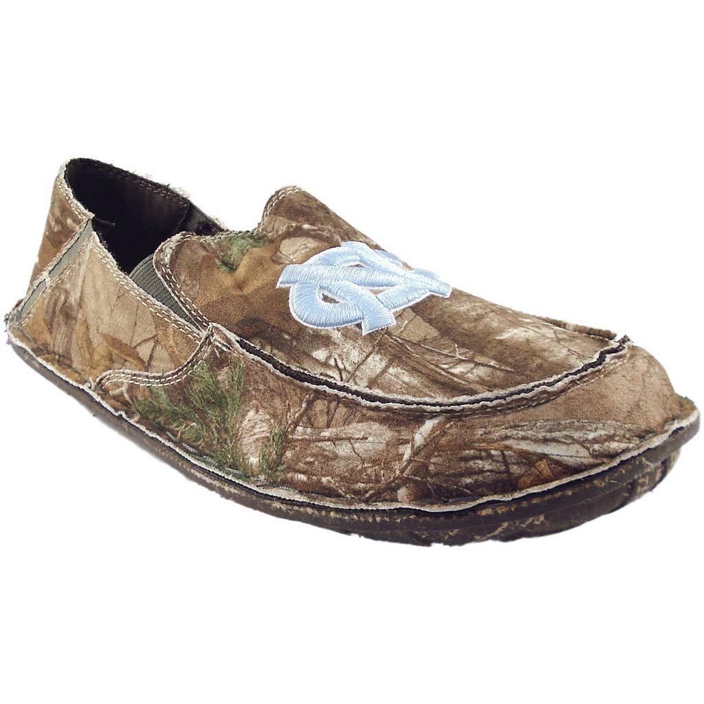 Men's North Carolina Tar Heels Cazulle Realtree Camouflage Canvas Loafers