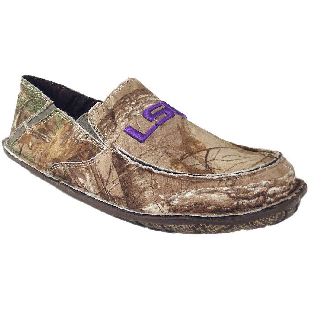 Men's LSU Tigers Cazulle Realtree Camouflage Canvas Loafers