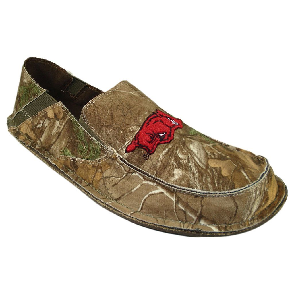 Men's Arkansas Razorbacks Cazulle Realtree Camouflage Canvas Loafers