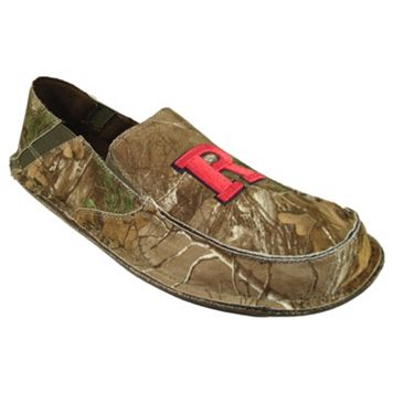 Men's Rutgers Scarlet Knights Cazulle Realtree Camouflage Canvas Loafers