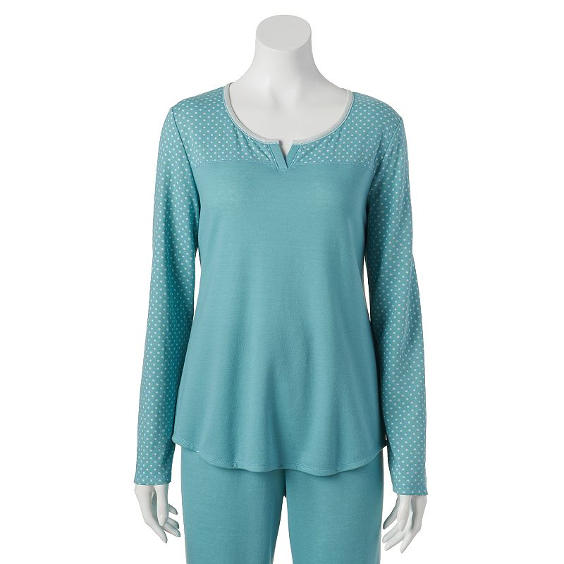 Croft & Barrow® Pajamas: Connect the Dots Knit Pajama Top - Women's Plus Size