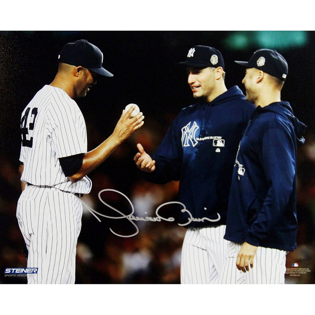 Steiner Sports New York Yankees Mariano Rivera Final Game Mound Close Up 8'' x 10'' Signed Photo