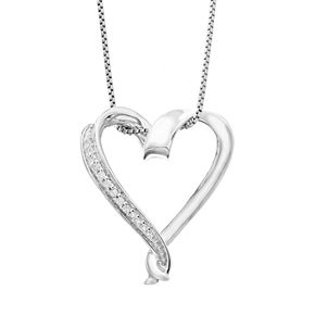 Timeless sterling silver diamond accent heart pendant necklace null timeless sterling silver diamond accent heart pendant necklace aloadofball Image collections
