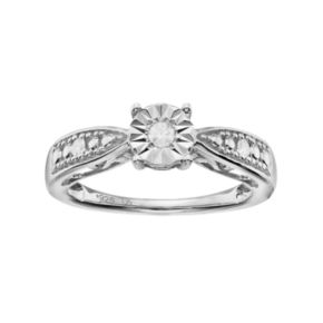 Love Is Forever Sterling Silver 1/10 Carat T.W. Diamond Ring