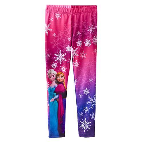 dad564fabf6b1 Disney Frozen Anna & Elsa Snowflake Fleece-Lined Leggings by ...