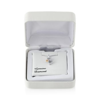 Love Is Forever Diamond Accent Sterling Silver & 14k Gold Over Silver Double Heart Pendant Necklace