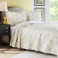 Laura Ashley Lifestyles Joy Reversible Quilt Set