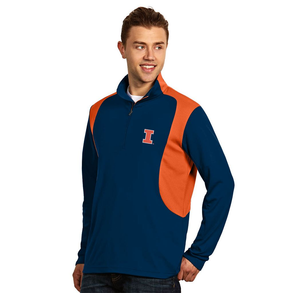 Men's Antigua Illinois Fighting Illini Delta 1/4-Zip Pullover