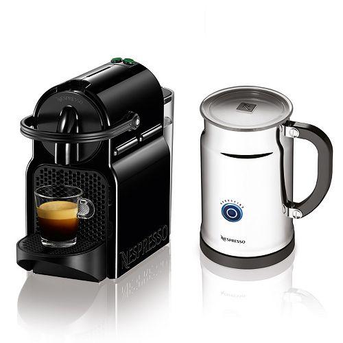 nespresso inissia espresso machine aeroccino milk frother. Black Bedroom Furniture Sets. Home Design Ideas