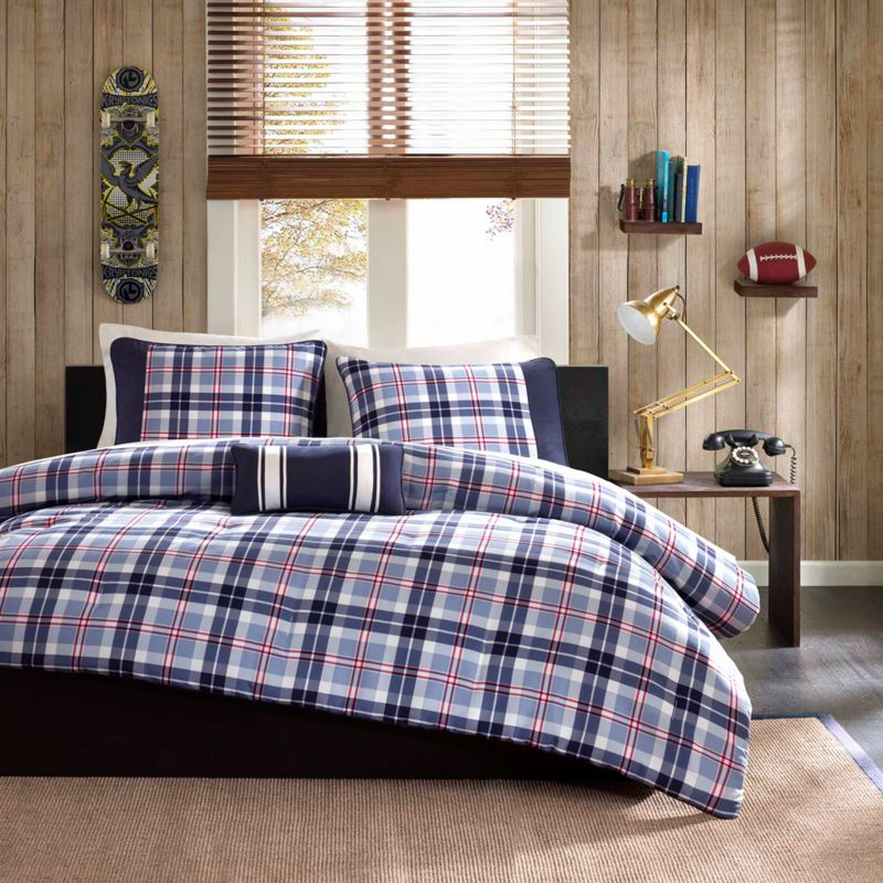 Mi Zone Alton Plaid Comforter Set, Blue