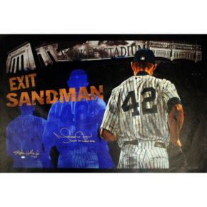 """Steiner Sports New York Yankees Mariano Rivera Stephen Holland Last to Wear #42 25"""" x 44"""" Signed Giclee on Canvas Wall Art"""