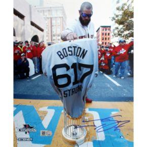 Steiner Sports Boston Red Sox Jonny Gomes Boston Strong Jersey at Marathon Finish Line 8'' x 10'' Signed Photo