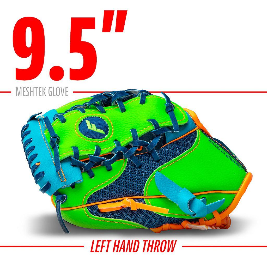 Franklin Meshtek Series 9.5-in. Left Hand Throw T-Ball Glove & Ball Set - Youth