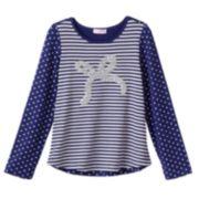 Design 365 Sequin Bow Tee - Toddler