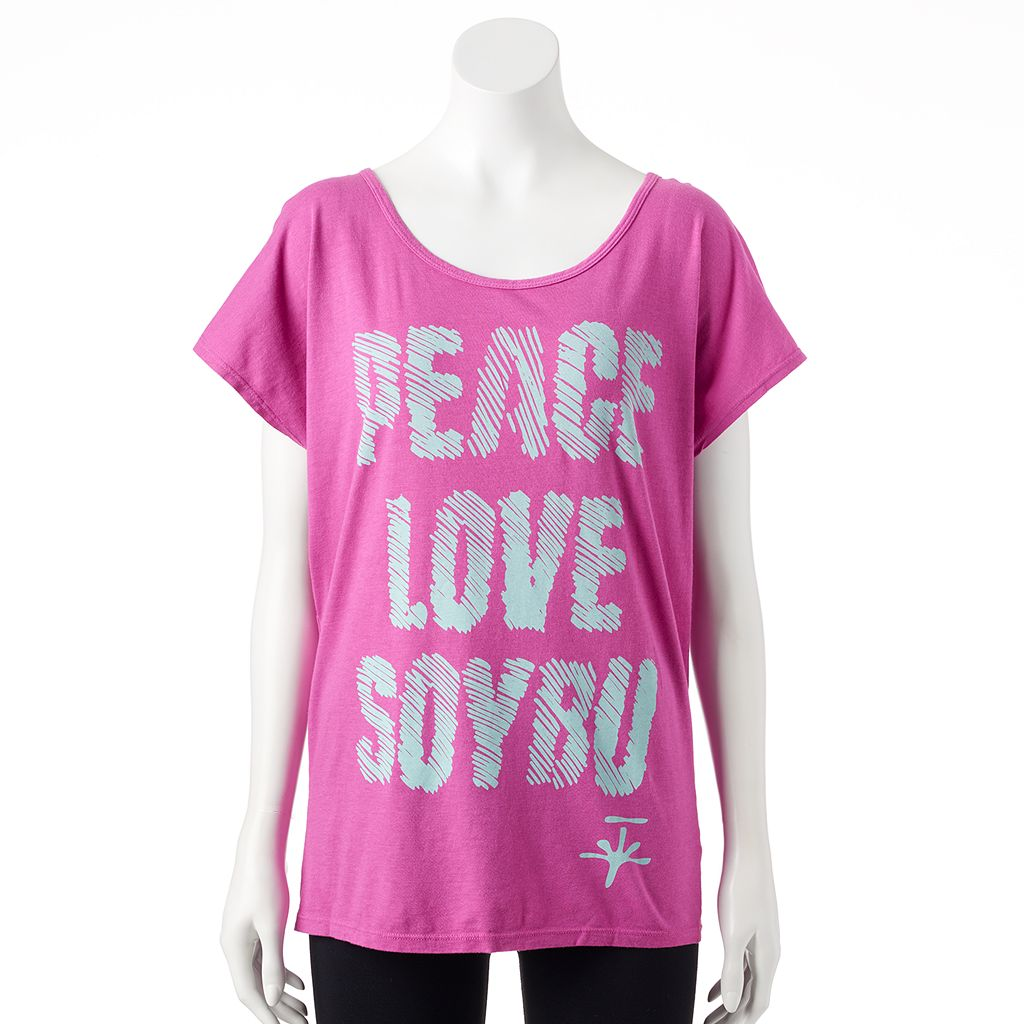 Women's Soybu Graphic Dolman Scoopneck Yoga Tee
