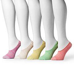 MUK LUKS 5 pkWomen's Microfiber No-Show Liner Socks