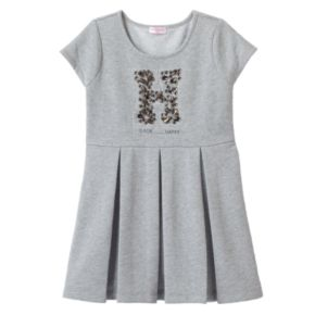 Design 365 Pleated French Terry Dress - Toddler