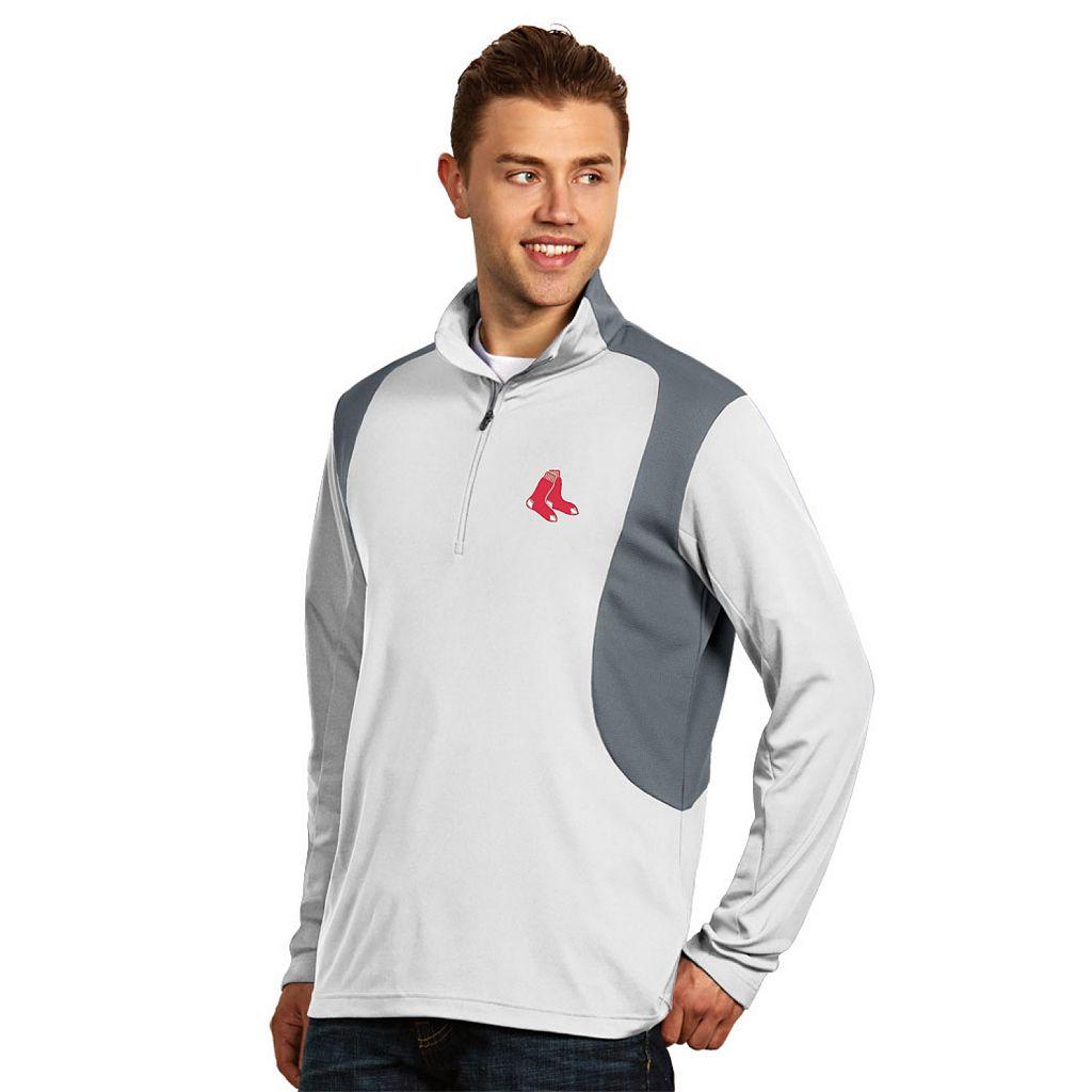 Men's Antigua Boston Red Sox Delta 1/4-Zip Pullover