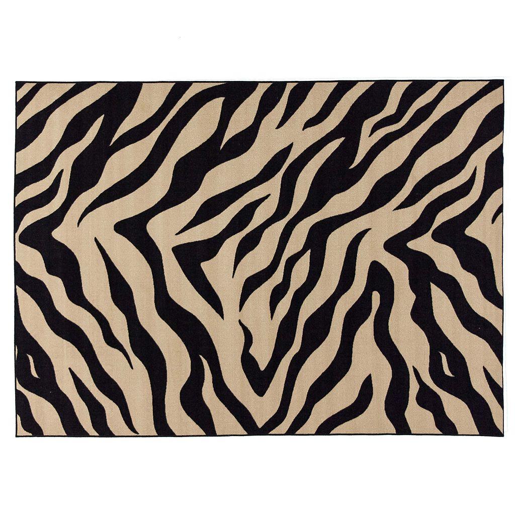 Infinity Home Kings Court Zebra Print Rug - 3'3'' x 4'7''